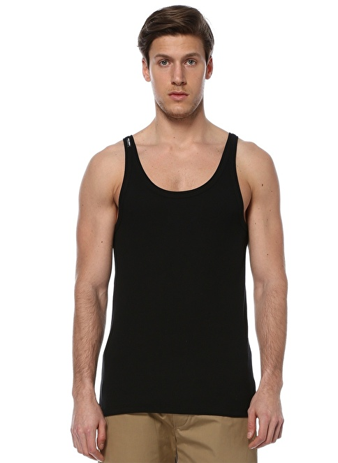 Dolce&Gabbana Bisiklet Yaka Kolsuz Tişört Siyah